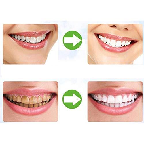 Lucky Mall Zahnaufhellung 2018 Organische Natürliche Bambus Aktivkohle Zähne Bleaching Pulver Zahnpasta (50g, Weiß)