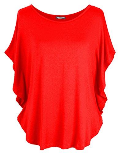 Emma & Giovanni T-Shirt/Oberteile Kurzarm - Damen (Rot, S/M)