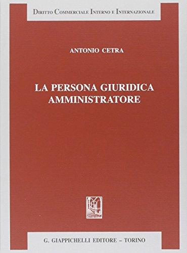 La persona giuridica amministratore