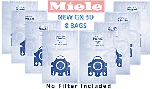 Original Beutel (Original Miele Staubsaugerbeutel Typ GN Staub Staubbeutel-kein Filter enthalten., 8er-Pack)