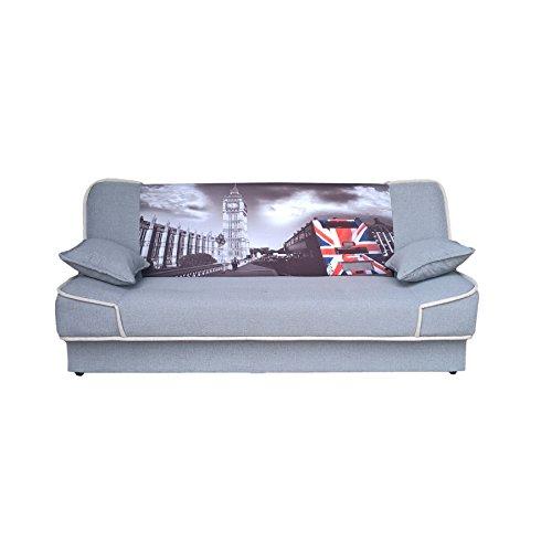 Couch mit Schlaffunktion Sofa Schlafsofa Wohnzimmercouch Bettsofa Ausziehbar - LEPE (Z21)