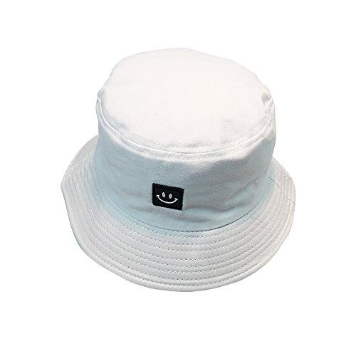byou Fischerhüte,Bucket Hat Baumwolle Unisex Faltbar Anglerhut zum Wandern Camping Reisen Angeln 56-58cm (Schwarz Und Weiß Hat)