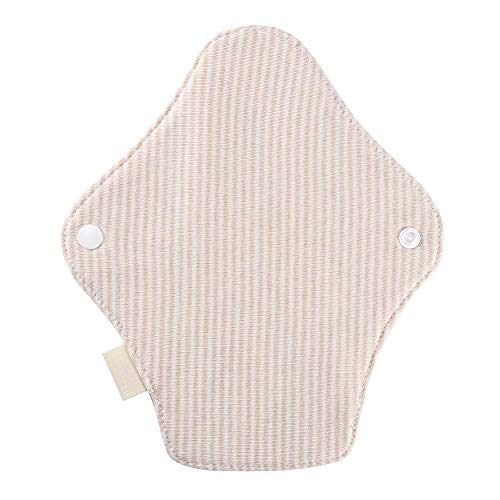 Feminine Pads (E-CHENG Organic Cotton Cloth Sanitary Napkins, Women Reusable Panty Liner Feminine Cloth Menstrual Pads Outer with TPU Water Proof Layer)