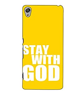 Fuson Designer Back Case Cover for Sony Xperia X :: Sony Xperia X Dual F5122 (Stay with god)