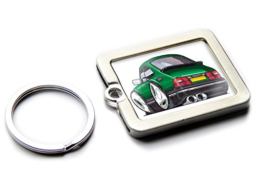 CATERHAM 7 Classic Sports Car Koolart Chrome Keyring Picture Both Sides