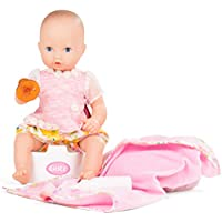 Gotz 1753033 Aquini Girl Daisy Do Doll - 33 cm Bathing Baby Doll Without Hair And Painted Blue Eyes - Suitable For Children Over 18 Months