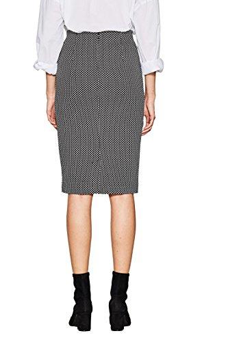ESPRIT Collection Damen Rock Mehrfarbig (Black 001)