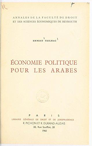 conomie politique pour les Arabes