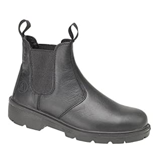 Amblers Steel FS116 Pull-On Dealer Boot/Unisex Boots (6 UK) (Black)