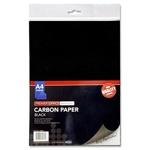 Premier Stationery A4Carbon Papier-Schwarz (Pack von 10Blatt)