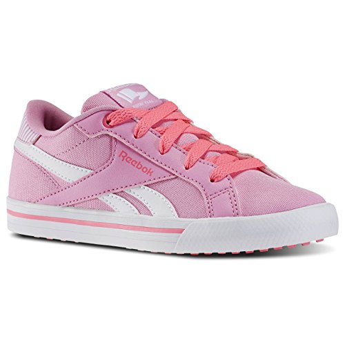 Reebok Royal Comp Low Cvs, Chaussures de Tennis Fille Multicolore - Rosa / Blanco (Icono Pink/Solar Pink/White)