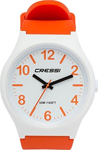 Cressi Analogic Watch Echo Wasserdicht Analoguhr, Orange/Weiß, Uni