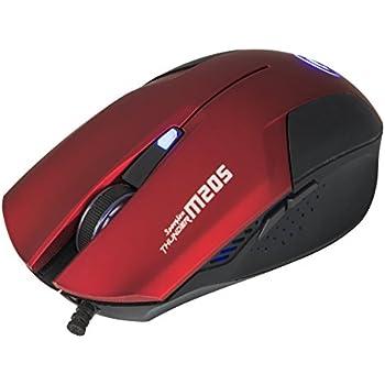 Marvo M205 - Ratón óptico de Gaming 1600 dpi, Rojo