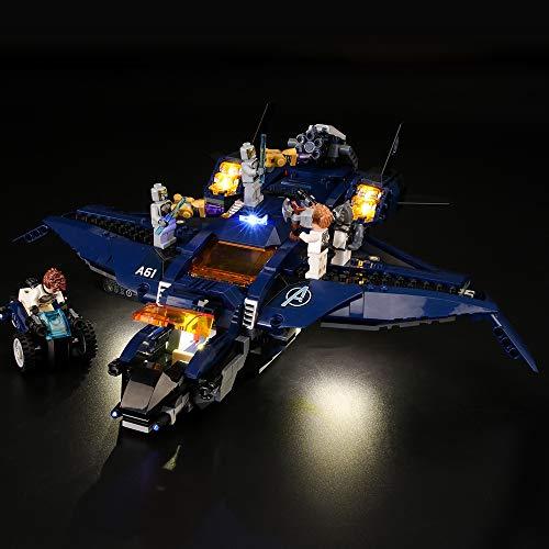 LIGHTAILING Conjunto de Luces (Super Heroes Quinjet Definitivo de los Vengadores) Modelo de Construcción de Bloques - Kit de luz LED Compatible con Lego 76126 (NO Incluido en el Modelo)