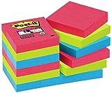 Post-it, Farbige Haftnotizen, 12er Pack Sticky Notes, Bunte Klebezettel und Haftnotizzettel, Notizzettel für Büro und Studenten, 12 Blöcke à 90 Post-Its, 47,6 x 47,6 mm