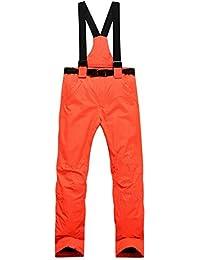 Pantalones de esquí para Mujer - Pantalón para Mujer Repelente al Agua, Cintura Ajustable, Tirantes Desmontables Traje de esquí, Bolsillos - Ropa de esquí Ideal para Esquiar