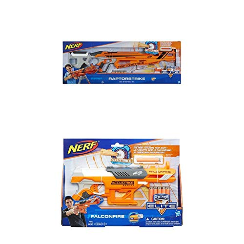 Hasbro Nerf C1895EU6 - AccuStrike Raptorstrike, Spielzeugblaster + Accustrike Falconfire, Spielzeugblaster