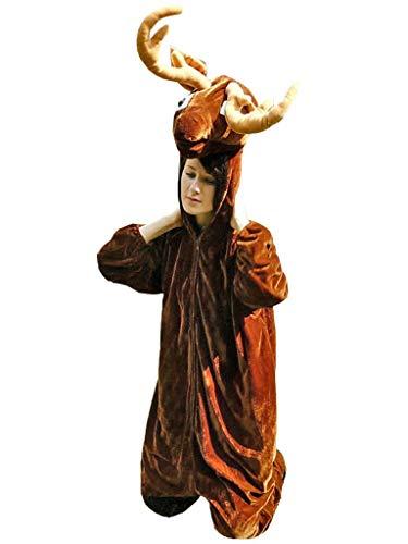 Hirsch Männer Kostüm - PUS Hirsch-e Kostüm-e Su07 Gr. M-L, Kat. 1, Achtung: B-Ware Artikel, Bitte Artikelmerkmale lesen! Frau-en Männer Tier-e Elch-e Rentier-e Wald- Erwachsene Fasching-s Karneval-s Geburtstag-s Geschenk-e
