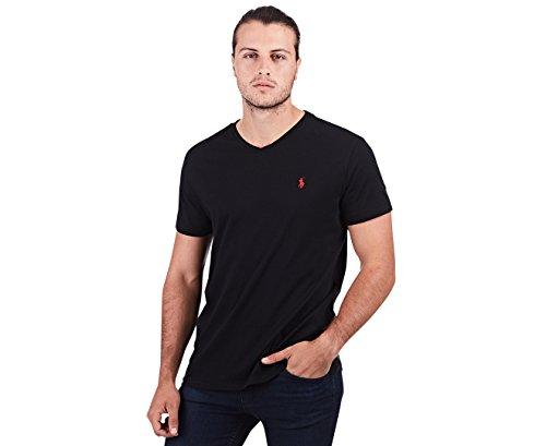Polo Ralph Lauren Herren T-Shirt mit V-Ausschnitt (X-Large, Black) (Polos Ralph Lauren)