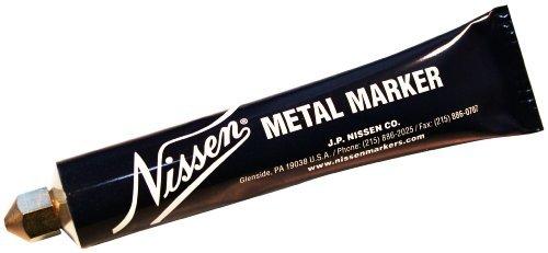 Nissen MMORB Metal Ball Point Marker, 3/16 Tip, Orange (Pack of 12) by Nissen