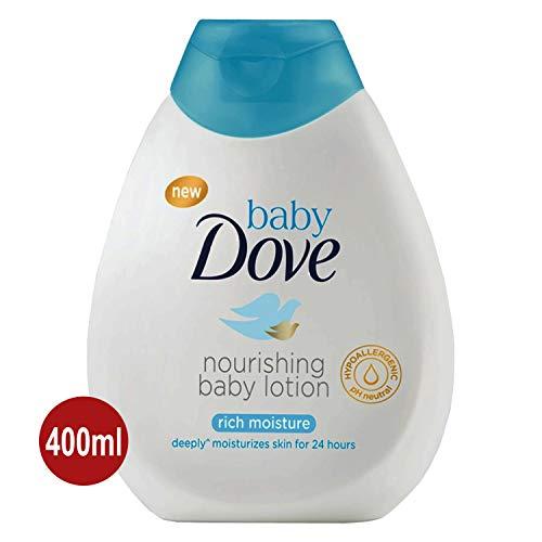 Baby DOVE Rich Moisture Shampoo & Lotion 2x 200ml Pflege-Set - sanft, hypoallergen und pH-neutral - Baby-shampoo-lotion
