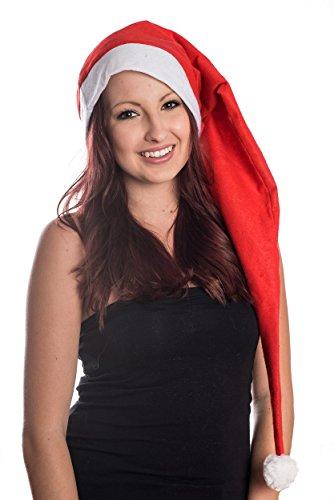 hnachtsmütze Nikolausmütze Rot Schlicht Santa Mütze Nikolaus (Santa-mützen)