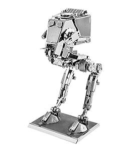 Fascinations - Maqueta metálica serie Star Wars AT-ST, Packaging e instrucciones en Español y Portugués (MMS261C2)