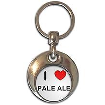 I love Pale Ale - Cromo Ronda de doble cara llavero