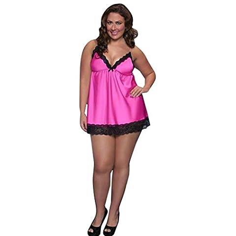 MML Damen Dessous Sexy Damen Dessous Kleid G-String Unterwäsche Babydoll Nachtwäsche Nachtwäsche Schlafkleid für Damen (Heißes (Weiche Womens Chemise)
