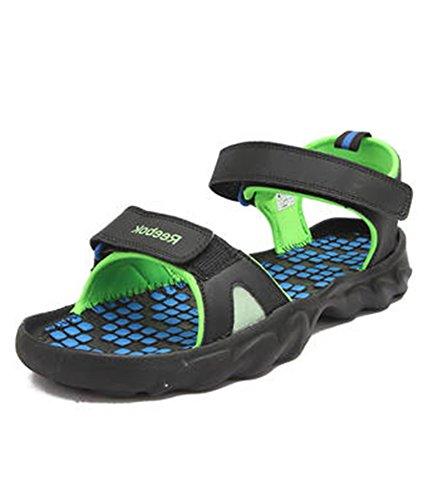 d3be7b94116e Reebok v62318 Mens Super Drive 2 0 Lp Green Blue And Black Sandals ...