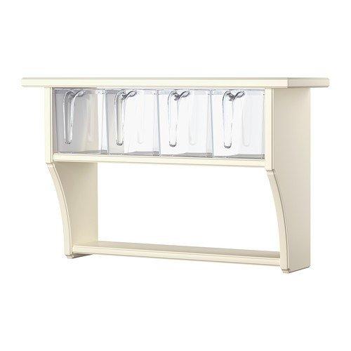 IKEA STENSTORP -Wandregal mit Schubladen weiß – 60×37 cm