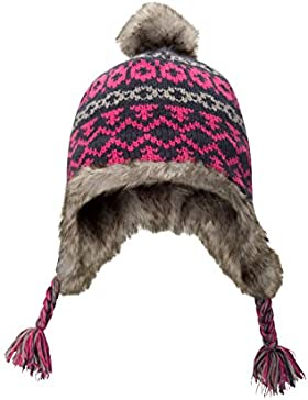 Mountain Warehouse Criss Cross Jacquard Kids Hat Azul Marino Talla única