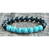 Hand Made 6518 Bracelet For Men - Black Turquoise