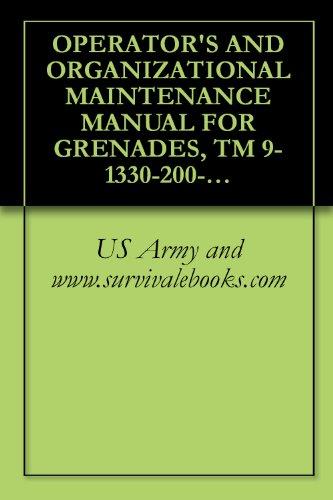 OPERATOR'S AND ORGANIZATIONAL MAINTENANCE MANUAL FOR GRENADES, TM 9-1330-200-12, 1971
