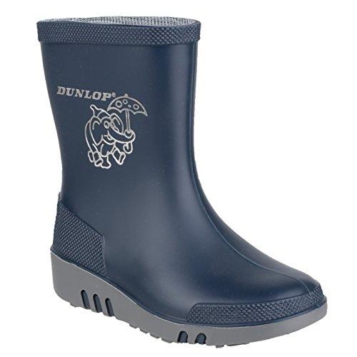 Dunlop Mini Kinder Unisex Gummistiefel Elefant Blau/Grau