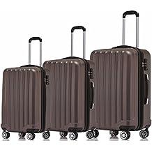 BEIBYE TSA-Schloß 2080 Hangepäck Zwillingsrollen neu Reisekoffer Koffer Trolley Hartschale Set-XL-L-M(Boardcase) in 12 Farben