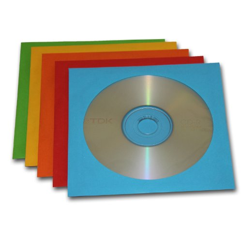 10 Blank CD-R Disks and 10 Colou...