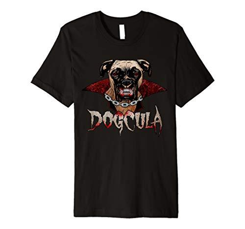 Scary Dogcula Boxer Vampire Halloween T-shirt