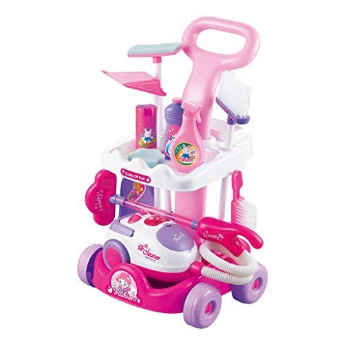 Fcostume Kinderspielzeug Staubsauger Geräusche für Mädchen Jungen Spielzeug Küche Geschenk Heiß (A)