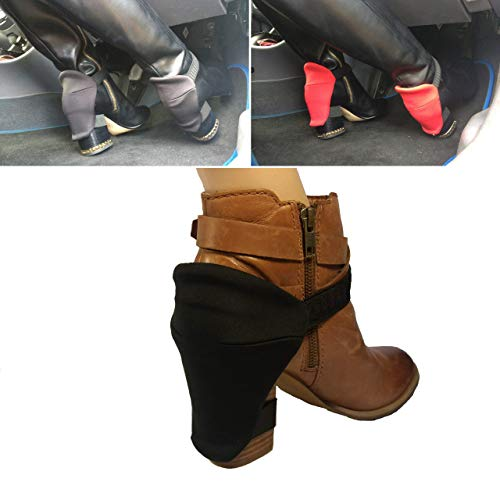 Protezione del tacco per gli stivali da donna per proteggere le scarpe dai graffi durante la guida nera block heel protection