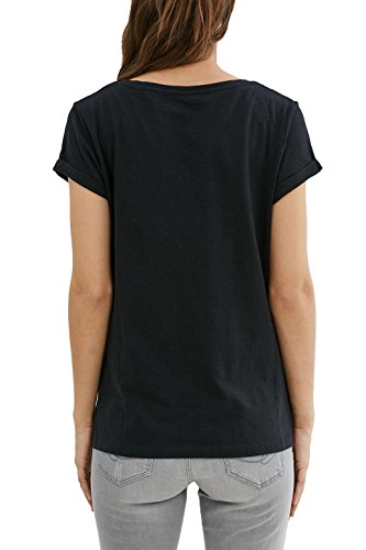 edc by ESPRIT Damen T-Shirt Schwarz (Black 001)