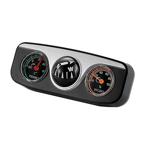 Auto-Kompass-Kugel - Dual Use Mini-Kompass Kompakt-Kugel-Kompass - Universal Dashboard Dash Stand-Kompass - mit Klebstoff und Dekoration - für die meisten Boots-LKWs Dual-kugel