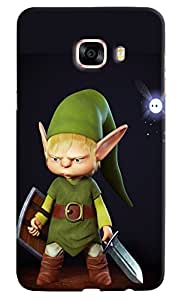 Omnam Cartoon Printed With Black Effect Printed Designer Back Cover Case For Samsung Galaxy C7