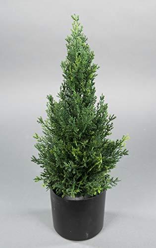 Seidenblumen Roß Zeder/Konifere Natura 45cm LA künstliche Pflanzen Baum Kunstpflanzen Kunstbaum Thuja Zypresse -
