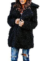 Manteau Femme Hiver Doudoune Femme Longue Duffle Coat Fourrure Jacket  Leather, Manches Longues ÉLéGant Chaud 640716e935f0