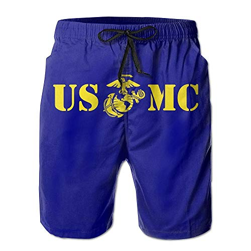 8eabe568c3eb Naiyin USMC Marine Corps Mens Board Shorts Beach Swim Shorts Beachwear  Workout Shorts (XXL)