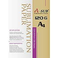 A-SUB - Papel de sublimación (120 g, A4), color negro A4, 100 Sheets