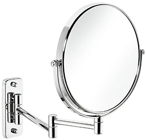 Design Badezimmer-Spiegel mit 3 fach Vergrößerung Bad-Spiegel rund Kosmetikspiegel für Kinderzimmer | Version Nr. H1051 | Wandspiegel chrom poliert | Möbelbeschläge von GedoTec®