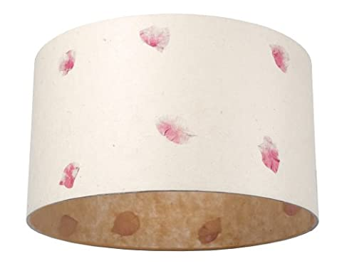 Anglesey Paper Company Large Drum Lamp Shade Rose Petals