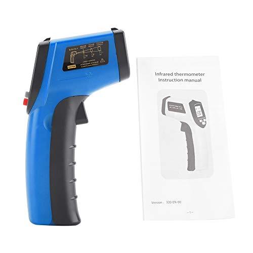 Stirn-finish (Instant Read-Temperaturpistole, berührungslose digitale Infrarot-Thermometerpistole (-50 ° C bis 380 ° C) mit LCD-Anzeige (Blau))